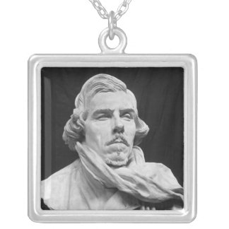 Bust of Eugene Delacroix Silver Plated Necklace