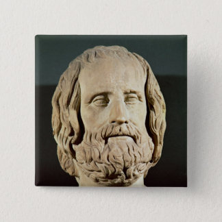 Bust of Euripides Button
