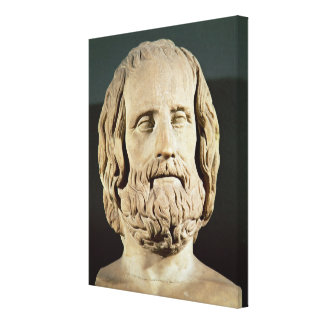 Bust of Euripides Canvas Print