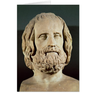 Bust of Euripides Card