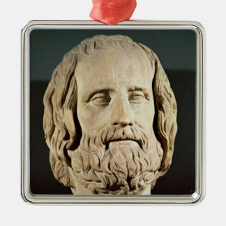 Bust of Euripides Metal Ornament