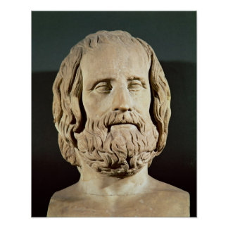 Bust of Euripides Poster