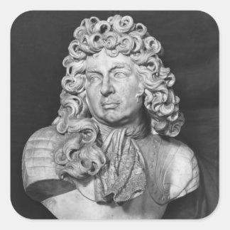 Bust of Francois de Crequy, c.1690 Square Sticker