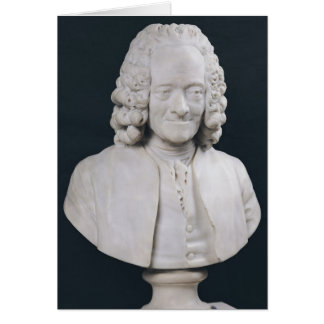 Bust of Francois Marie Arouet de Voltaire  1778 Greeting Card