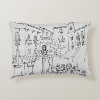 Bust of Frederic Mistral | Avignon, France Decorative Pillow