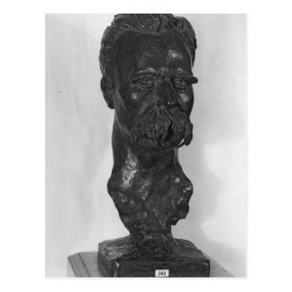 Bust of Friedrich Nietzsche  German Postcard