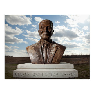 Bust of George Washington Carver, Monument, MO Postcard