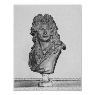 Bust of Gerard Audran Poster