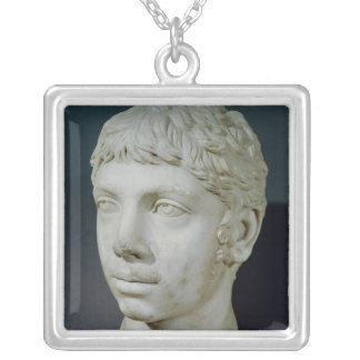 Bust of Heliogabalus Silver Plated Necklace