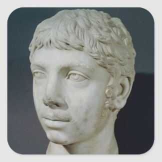 Bust of Heliogabalus Square Sticker