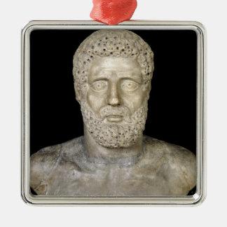 Bust of Hercules Metal Ornament