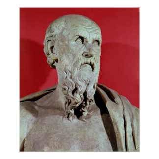 Bust of Hesiod Poster