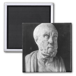 Bust of Hippocrates 2 Inch Square Magnet