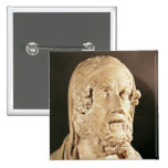 Bust of Homer, Hellenistic period 2 Inch Square Button