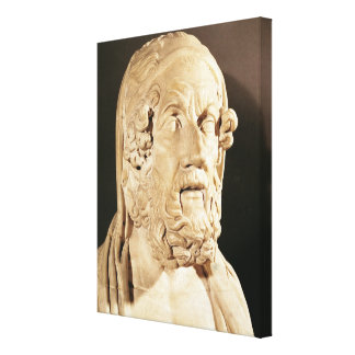 Bust of Homer Hellenistic period Canvas Prints