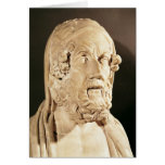 Bust of Homer, Hellenistic period Greeting Cards