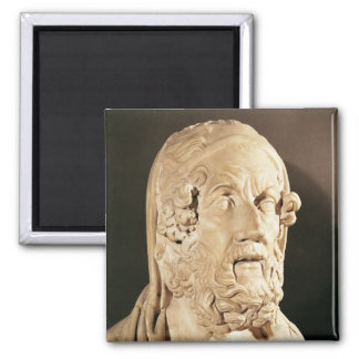 Bust of Homer, Hellenistic period Fridge Magnets