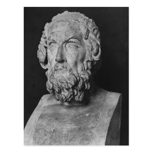 Bust of Homer, Hellenistic period Postcard