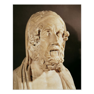 Bust of Homer Hellenistic period Print