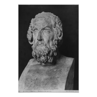 Bust of Homer, Hellenistic period Print