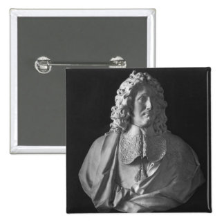 Bust of Jean-Baptiste Colbert de Torcy 2 Inch Square Button