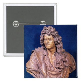 Bust of Jean Baptiste Lully 2 Inch Square Button