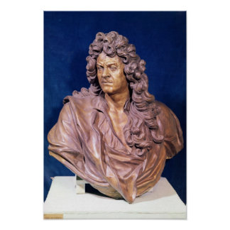 Bust of Jean Baptiste Lully Poster