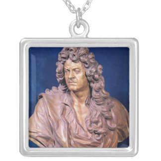 Bust of Jean Baptiste Lully Square Pendant Necklace