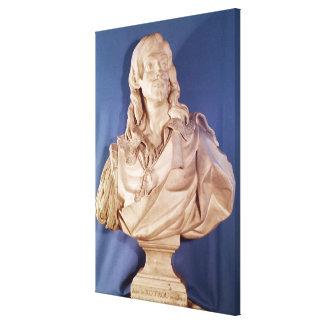 Bust of Jean de Rotrou  1783 Canvas Print