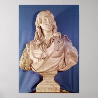 Bust of Jean de Rotrou  1783 Poster