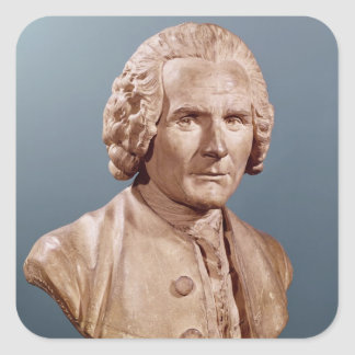 Bust of Jean-Jacques Rousseau Square Sticker