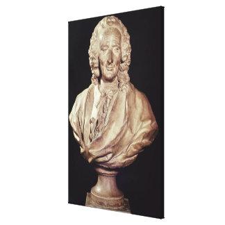 Bust of Jean-Philippe Rameau  1760 Canvas Print
