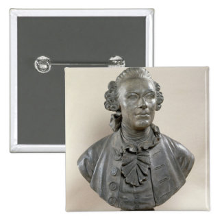 Bust of Johan Georg Wille 2 Inch Square Button