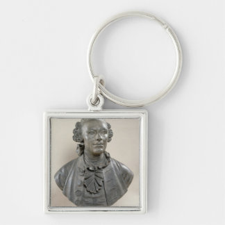 Bust of Johan Georg Wille Silver-Colored Square Keychain