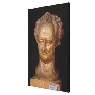 Bust of Johann Wolfgang von Goethe , 1831 Canvas Print
