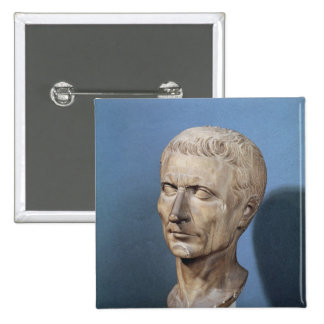 Bust of Julius Caesar Button