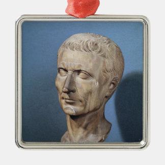 Bust of Julius Caesar Square Metal Christmas Ornament