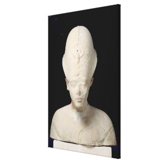 Bust of King Amenophis IV  from Tell el-Amarna Canvas Print