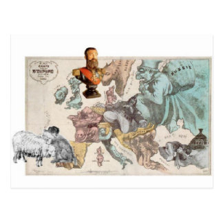 Bust of King Leopold II by Felicien Rops Postcard