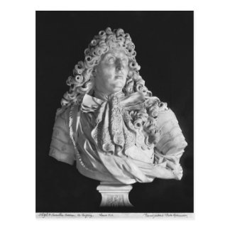 Bust of Louis XIV  1679 Postcard