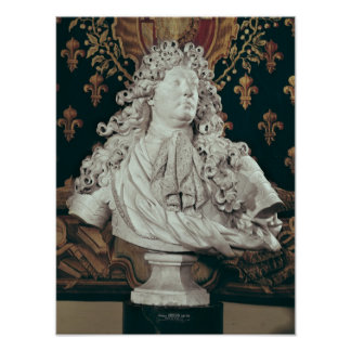 Bust of Louis XIV  1686 Poster