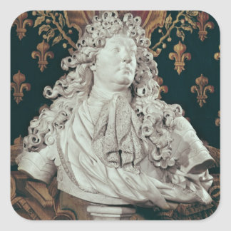 Bust of Louis XIV  1686 Square Sticker