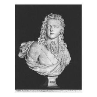 Bust of Louis XV  1719 Postcard