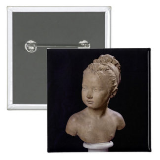 Bust of Louise Brongniart, 1777 2 Inch Square Button