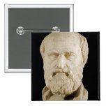 Bust of Lysias 2 Inch Square Button