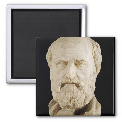 Bust of Lysias 2 Inch Square Magnet