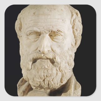 Bust of Lysias Square Sticker