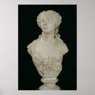 Bust of Madame Sabatier, 1847 Poster