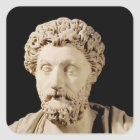 Bust of Marcus Aurelius Square Sticker