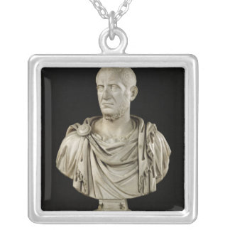 Bust of Marcus Claudius Tacitus Silver Plated Necklace